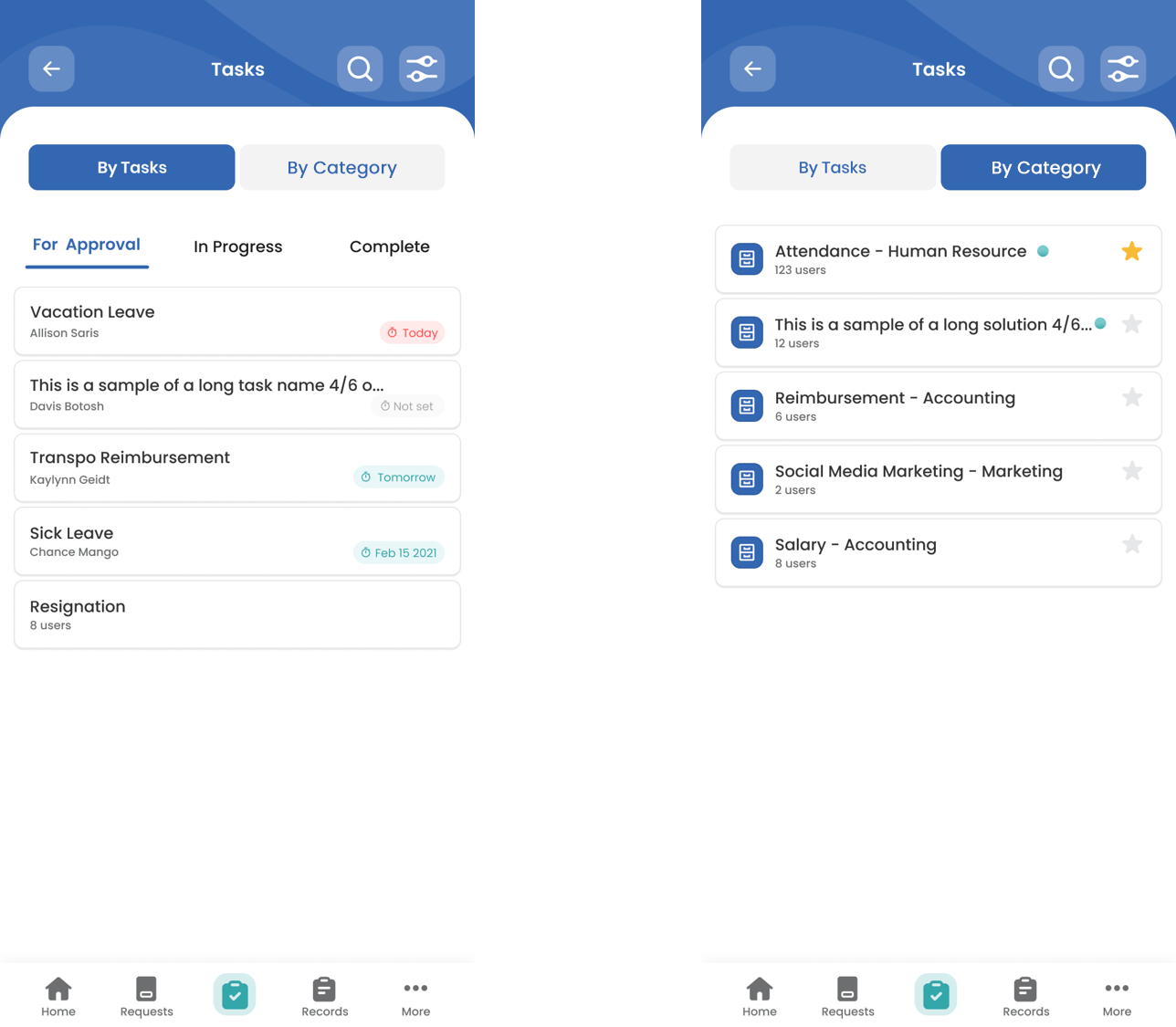 Mobile Feature: Task Views