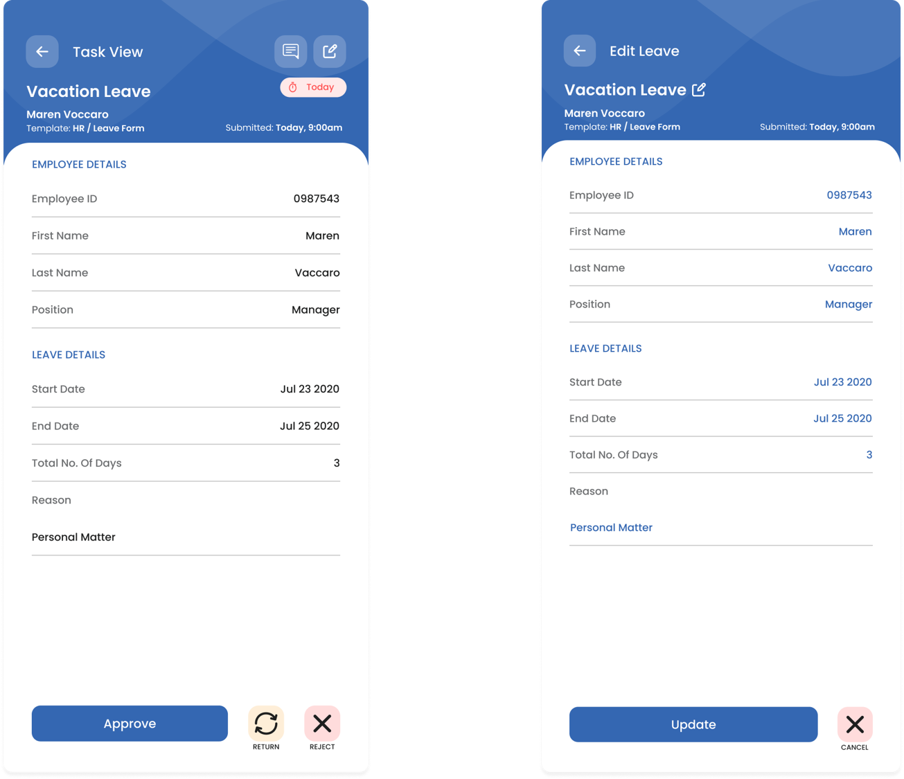 Mobile Feature: Approve and Update Tickets