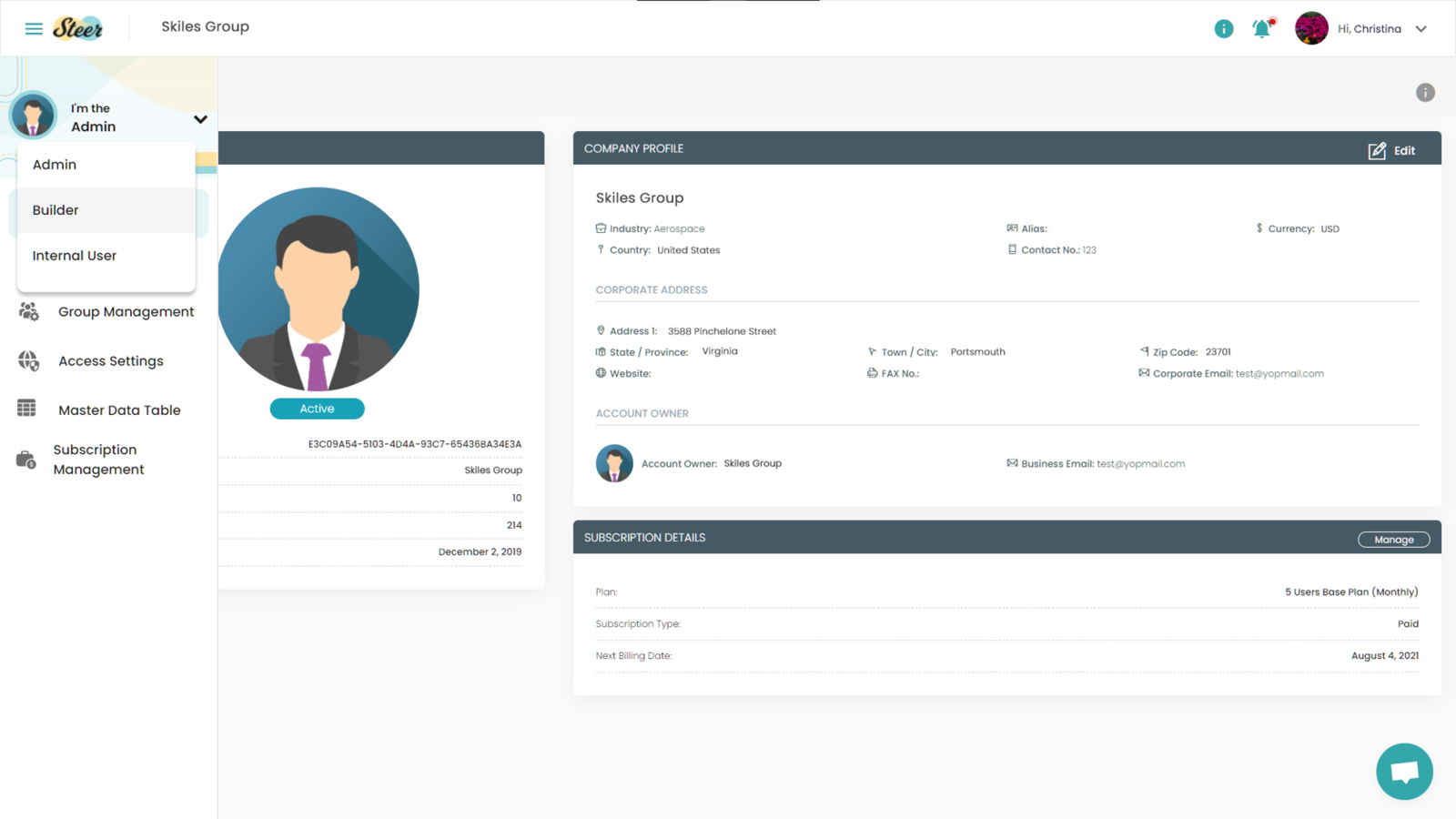 Switching Roles from Admin Dashboard
