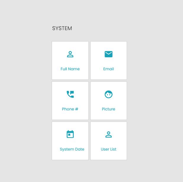 Form Builder System Elements