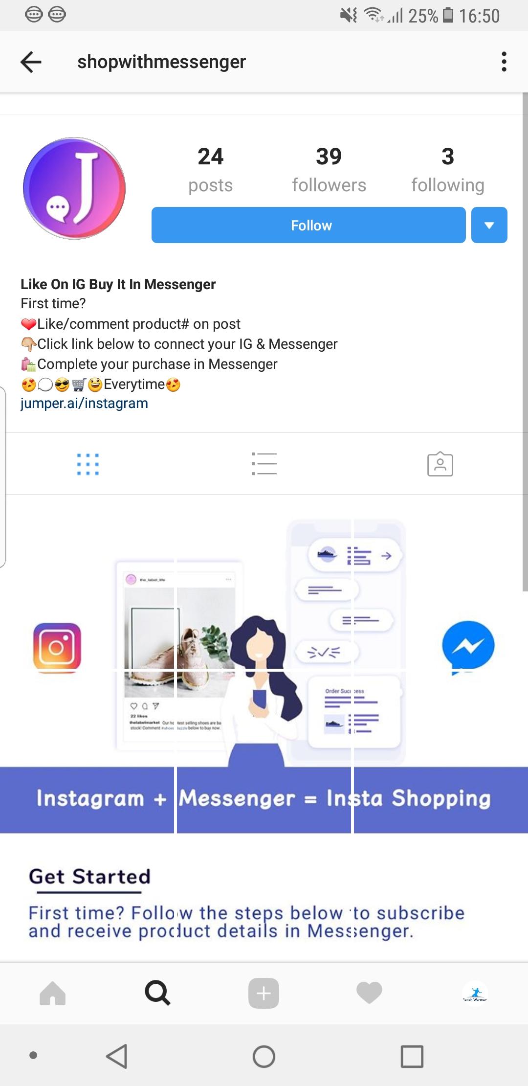 @shopwithmessenger instructions