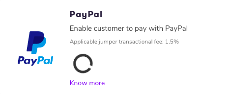 initiating PayPal connection
