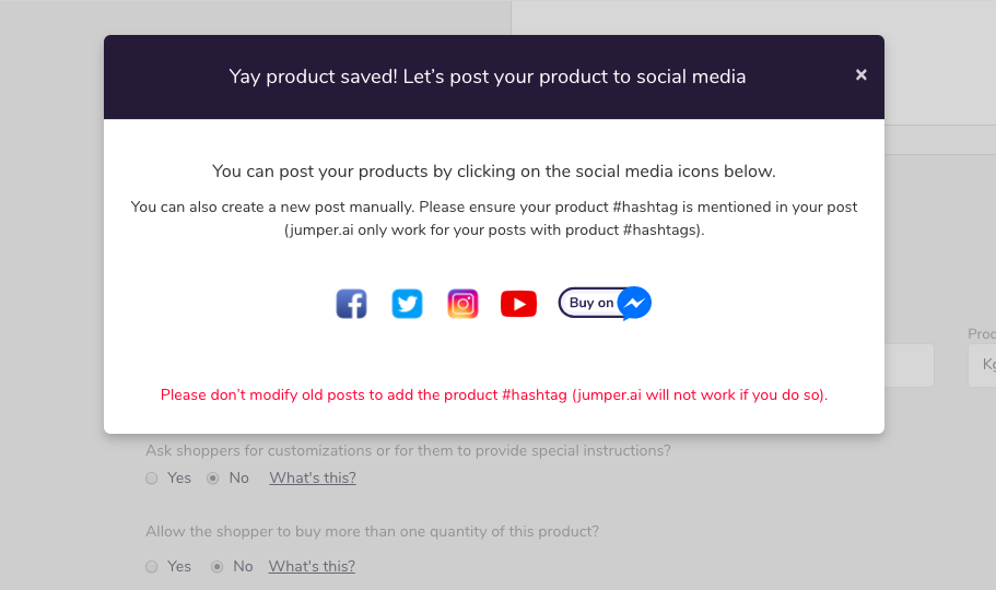 Share your product