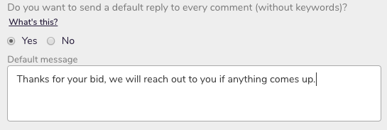 Promote default reply toggle