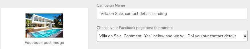 Contact details campaign