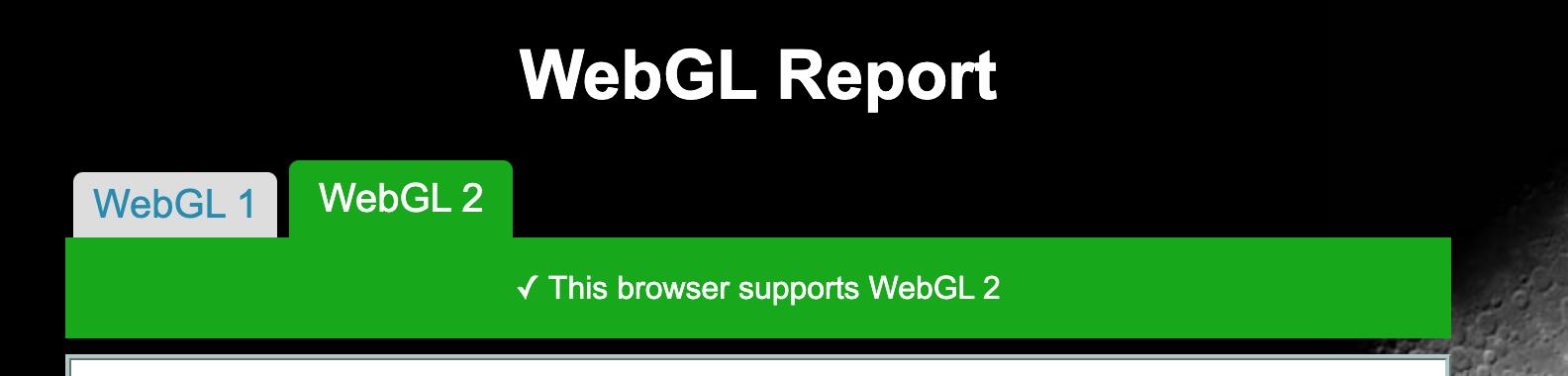 WebGL 2 Support Success