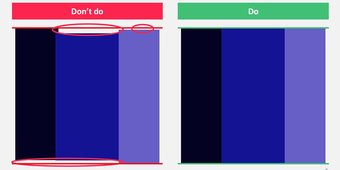 Horizontally aligned elements