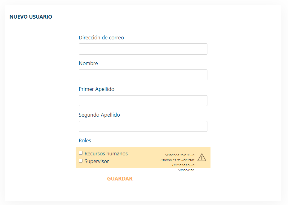 ¿Cómo registrar una nueva usuaria/usuario en la empresa?