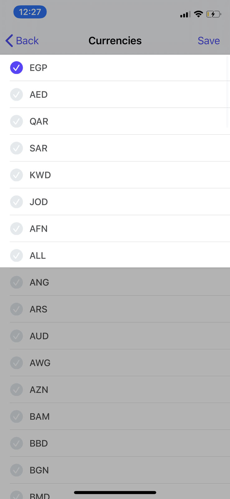Select a Store Currency