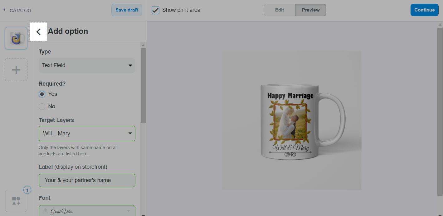 单击Add Option旁边的按钮以返回到个性化功能列表