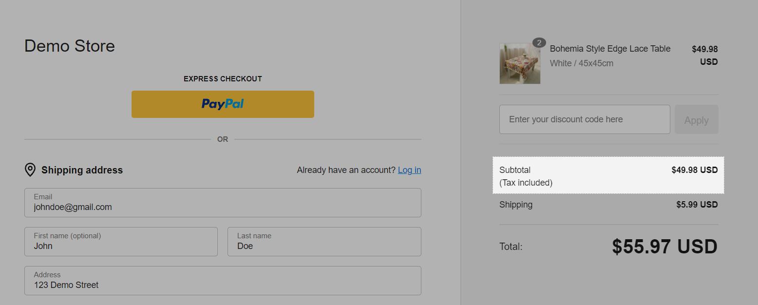 Lựa chọn này sẽ được hiển thị trong trang thanh toán như ảnh trên