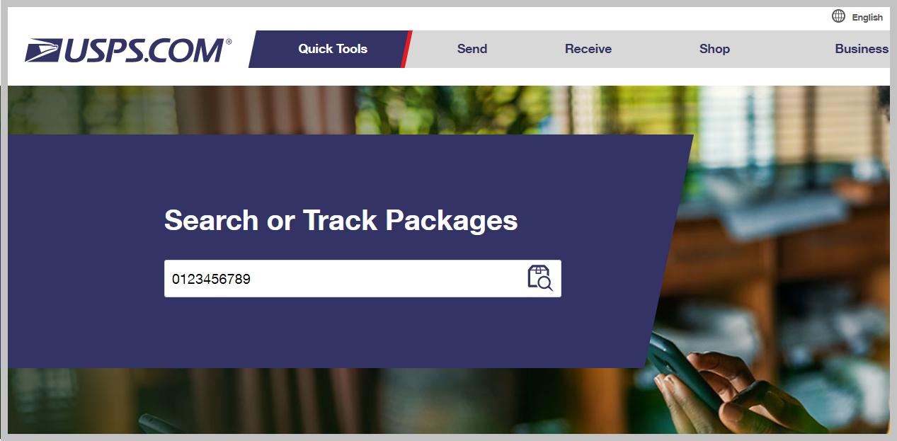 在当地快递公司网站的搜索栏上粘贴最后一英里运单号...