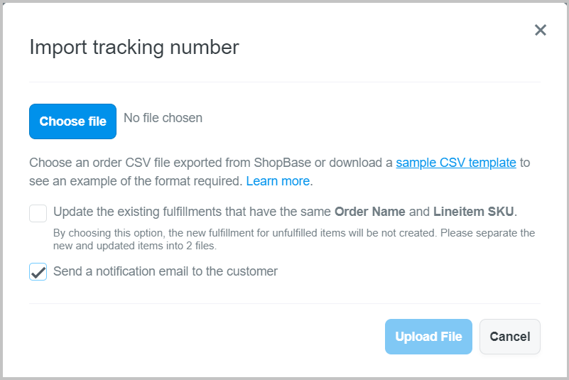 You could import multiple tracking number here.