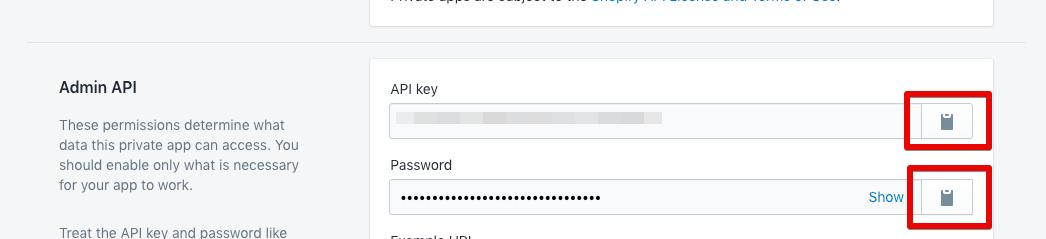Step 6: API Key & Password