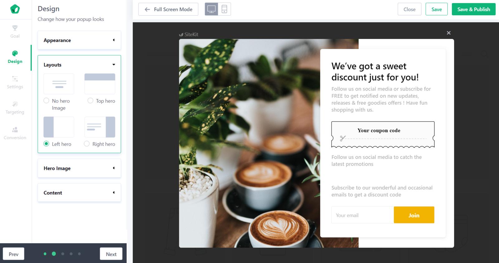 Step 3: Design tab