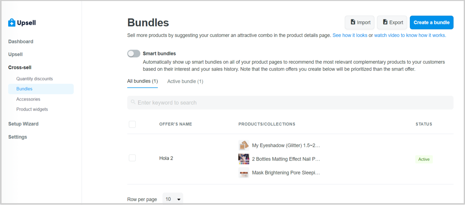 Bundles on Boost Upsell admin