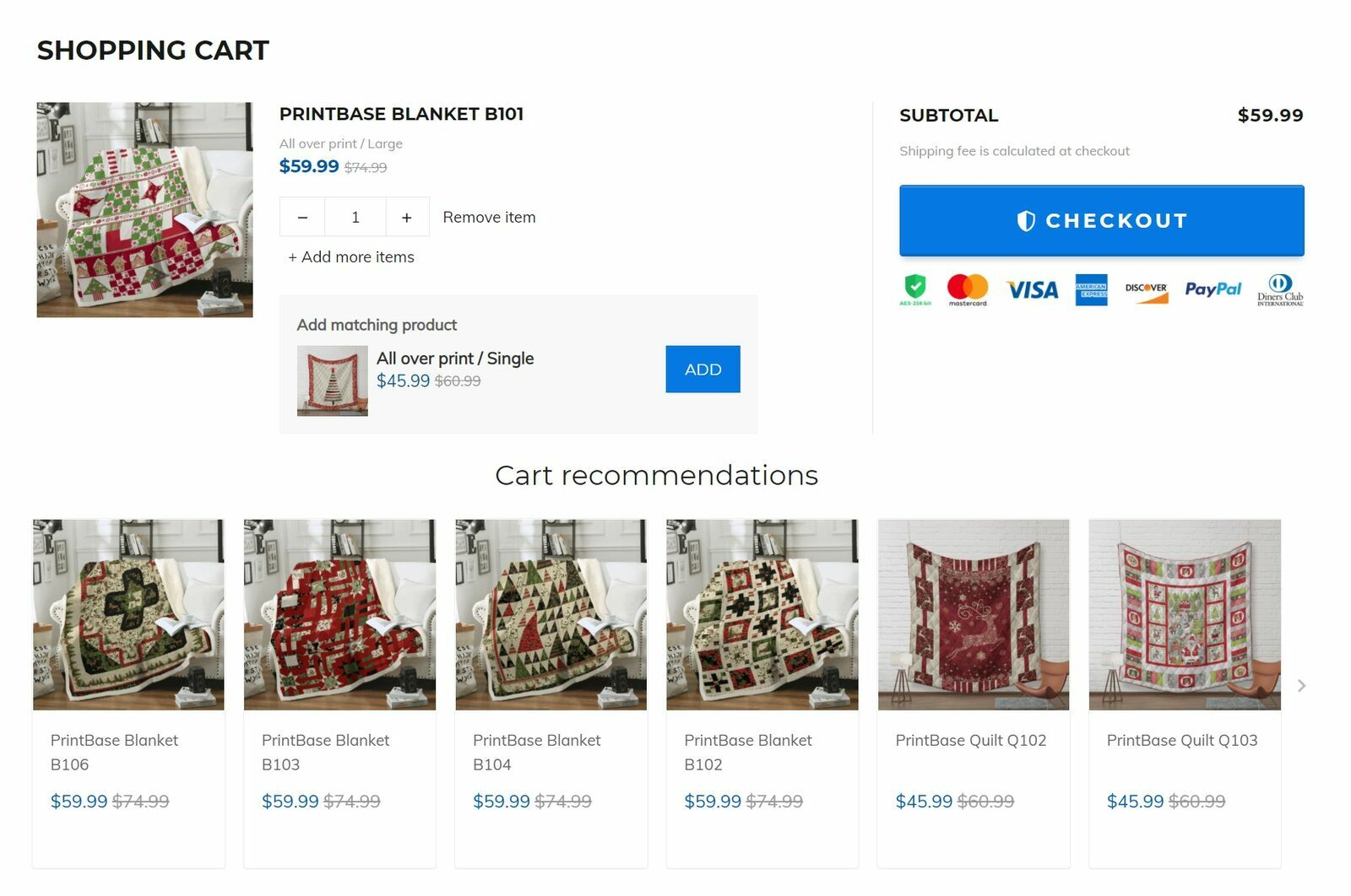 In-cart Upsell allows sellers to create product recommendations that match the current products in the customer shopping cart. Recommended products will help encourage customers to add more products to their shopping cart.