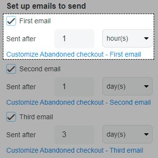 Set up emails to send
