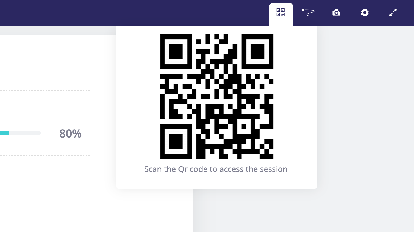 Displaying the QR Code in full screen