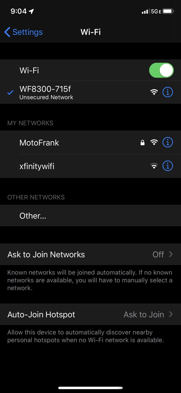 select wifi