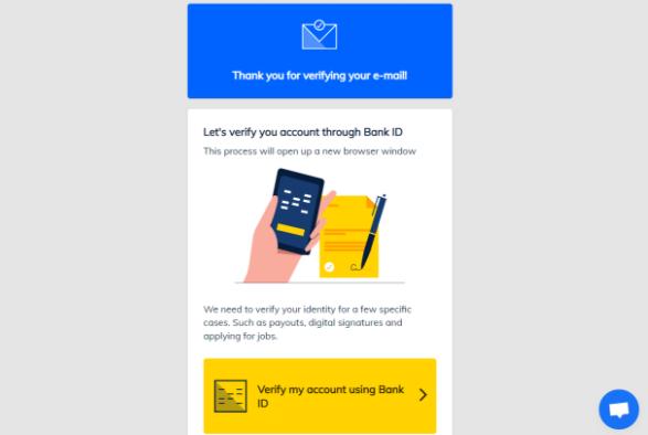 Przeprowadź weryfikację na Dipps za pomocą BankID, abyśmy mogli być pewni, że to rzeczywiście Ty chcesz utworzyć konto.