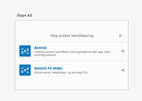 Możesz wybrać BankID lub BankID na urządzeniu mobilnym