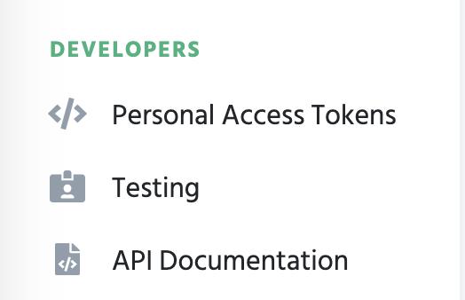 Test data & tokens