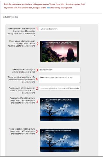 Virtual Event Application + Edit App Page