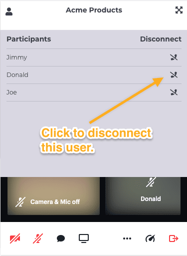 Disconnect the user.