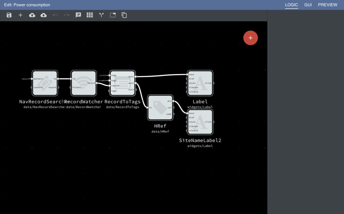 Logic Editor Screen