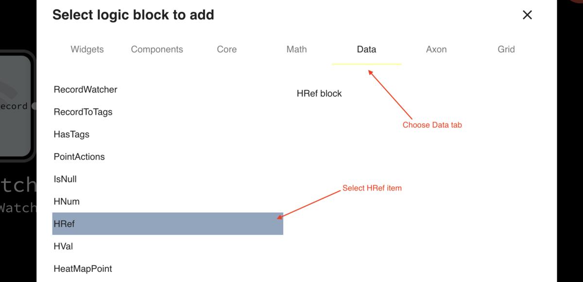 Adding HRef block
