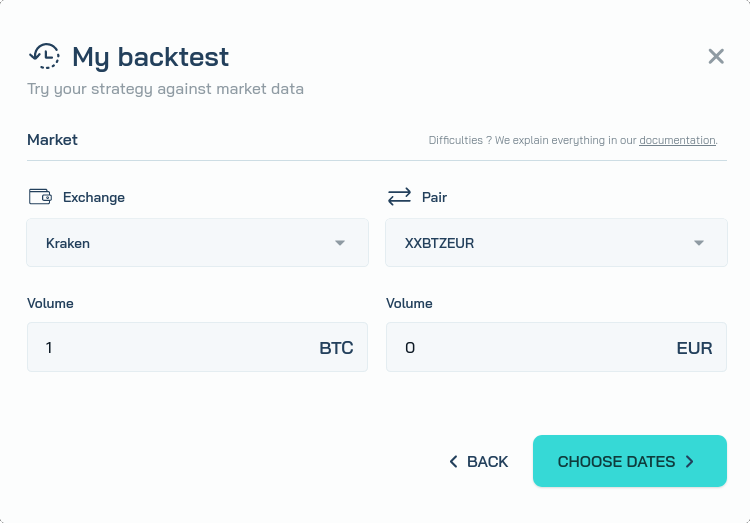 Create a backtest 2/3