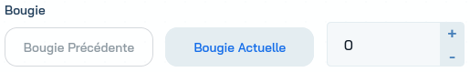 Le paramètre Bougie