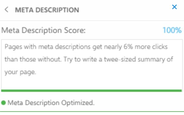 Meta Descriptions INK SEO Editor