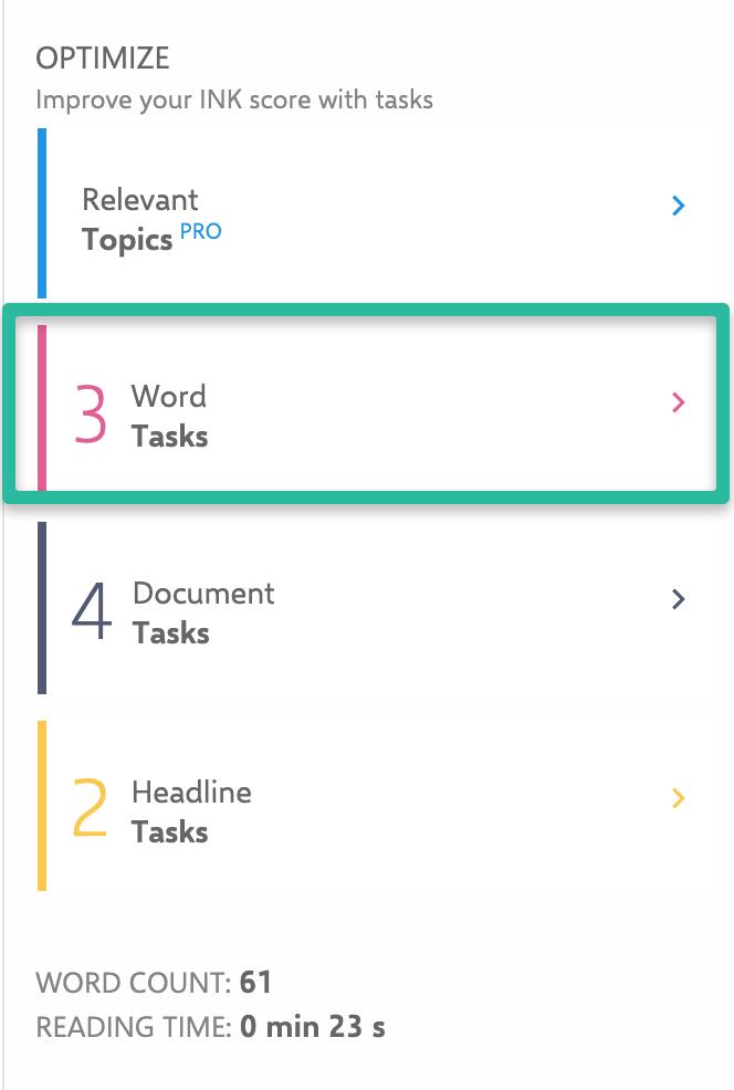 Word Task
