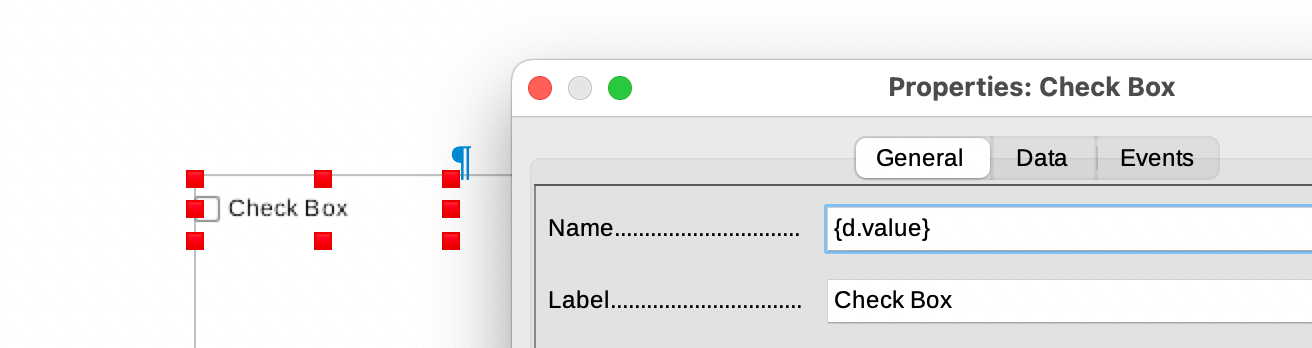 Dynamic checkboxes into an ODT template