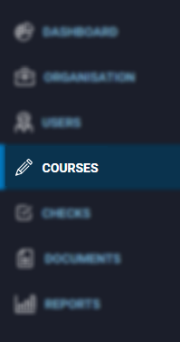 Courses tab