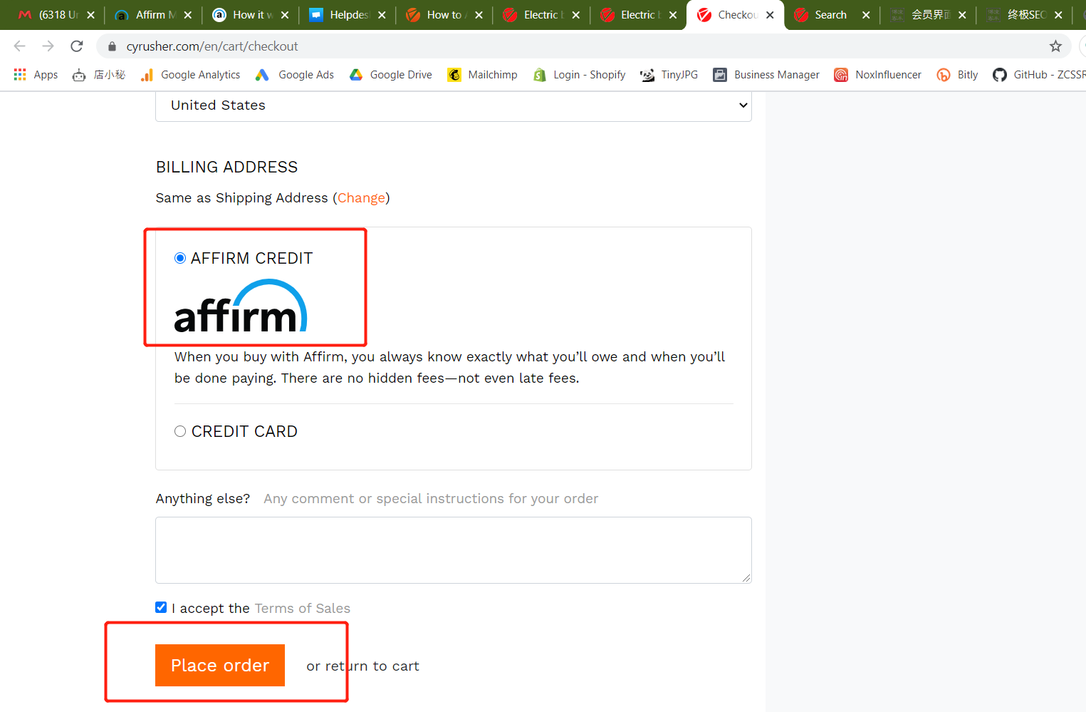Choose Affirm to Pay