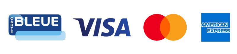 Carte bleue • Visa • Mastercard • American Express