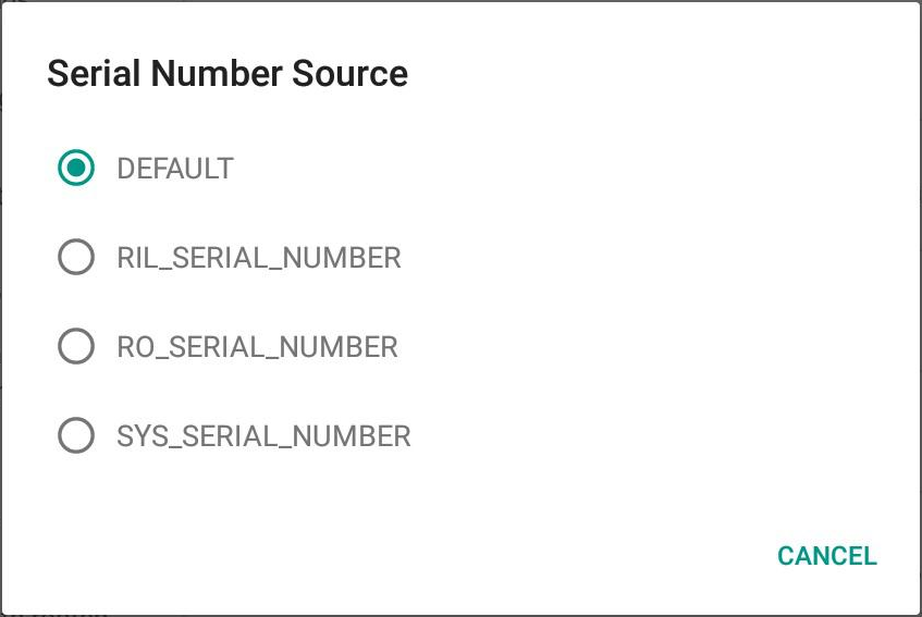 Serial Number Source