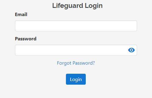 Wi-Fi Lifeguard administration panel login page