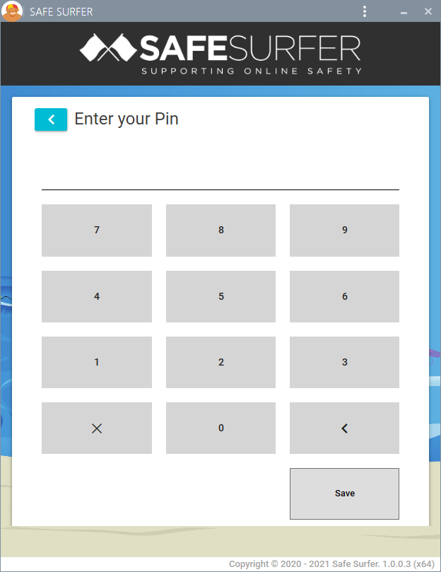 New Windows app Beta pin pad