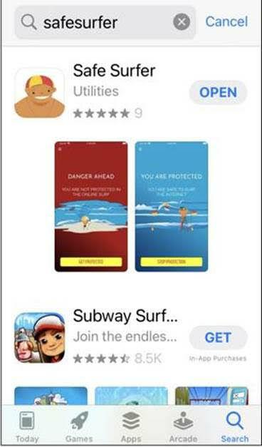 Safe Surfer App