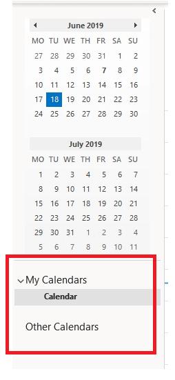 Calendar List