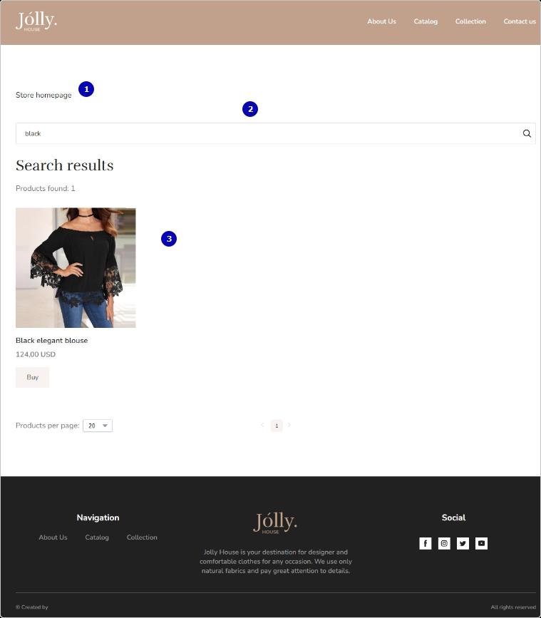 Пример страницы результатов поиска