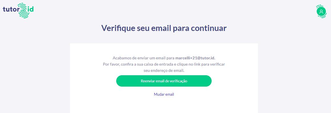 FIG. 2 Verifique seu e-mail