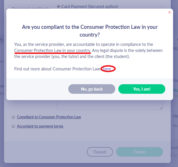 Fig. 4. Is your course compliant to Consumer Protection Law?