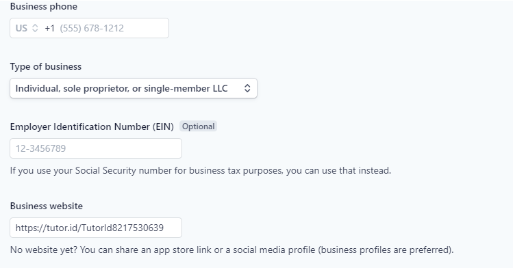 Fig. 4. Account details 2