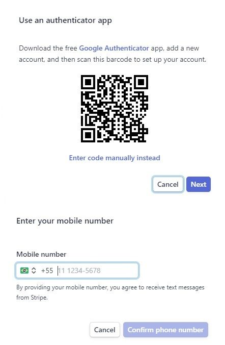 Fig.3. QR Code Example and Google Authenticator App