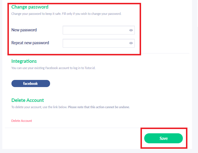Fig. 7. Change your password and save it!
